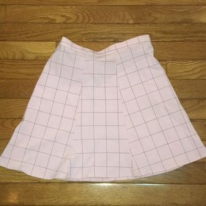 AUTHENTIC AMERICAN APPAREL PINK CHECKERED SKIRT